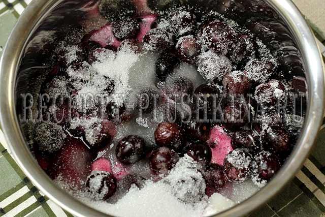 приготовление вишневой пятиминутки