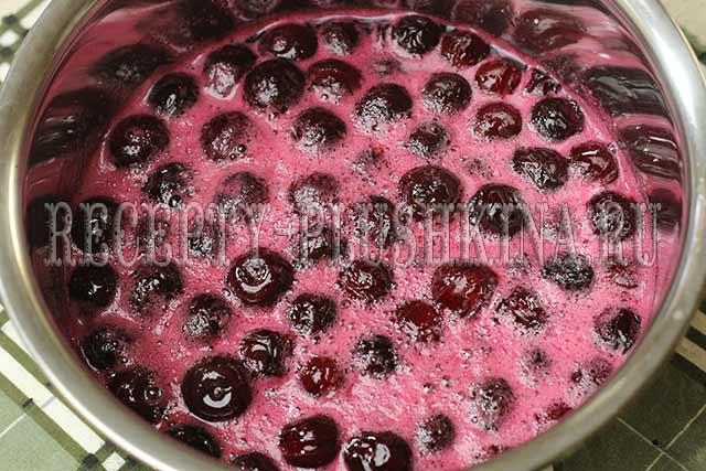 пятиминутка из вишни рецепт на зиму