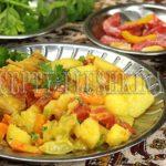 рагу из курицы с картошкой и овощами