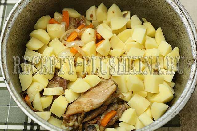 вкусное рагу из курицы, овощей и картошки