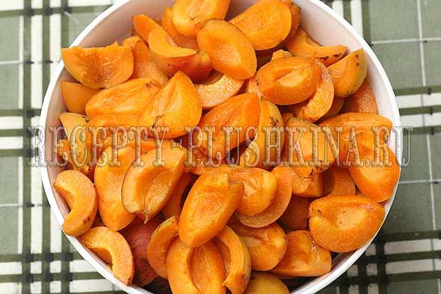 абрикосовая пятиминутка дольками