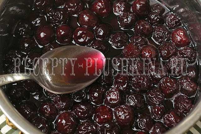 варенье из вишни простой рецепт на зиму