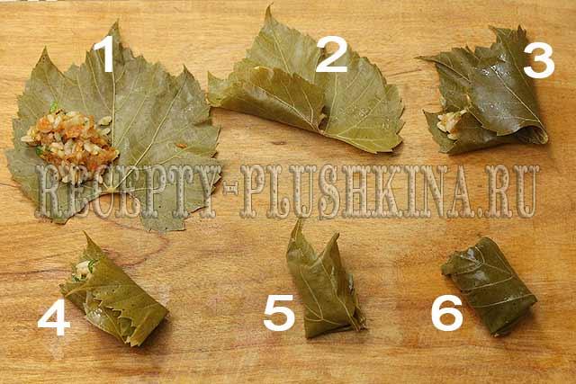 как приготовить долму в виноградных листьях