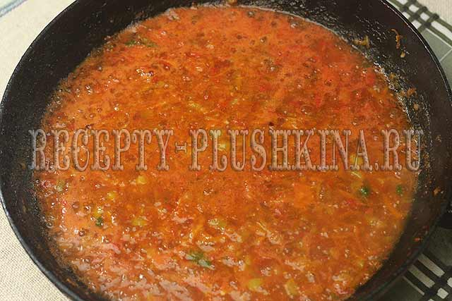 как приготовить соус для фаршированных перцев