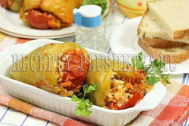 фаршированные перцы с мясом и рисом рецепт
