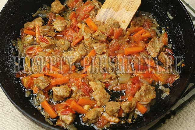 гречка по-купечески с мясом
