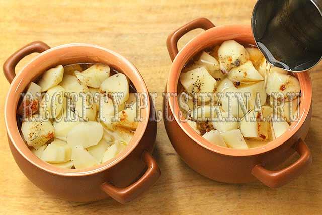 как готовить мясо с картошкой в горшочках