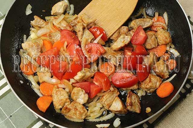 мясо с картошкой в духовке рецепт пошагово