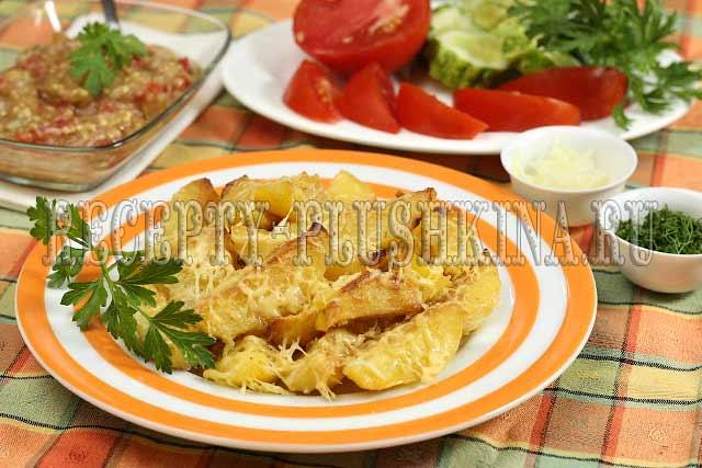 картошка запеченная в духовке с майонезом и чесноком