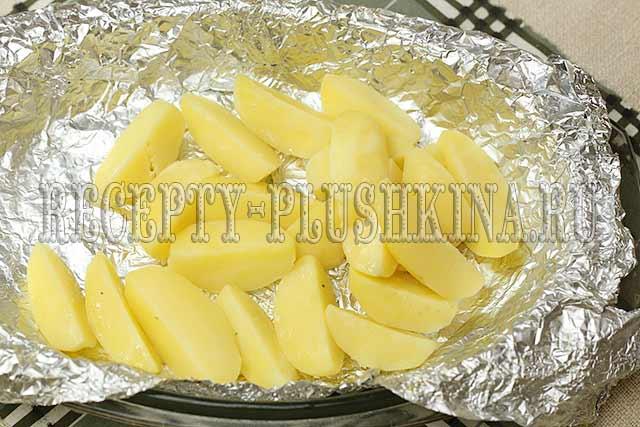 картошка в духовке с майонезом и чесноком рецепт