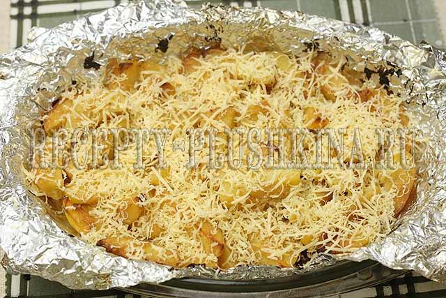 картошка в духовке под сыром