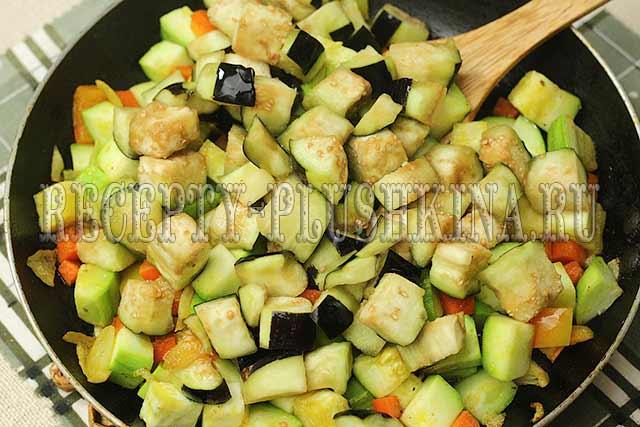 овощное рагу с баклажанами и кабачками рецепт с фото