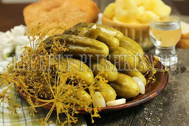 Рецепт соленых огурцов в банке на зиму