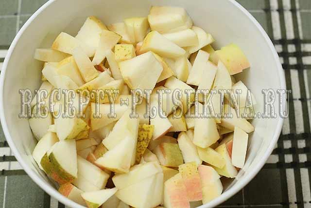 начинка для пирога из свежих яблок