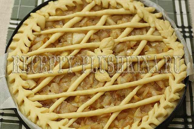 пирог с яблоками из дрожжевого теста рецепт