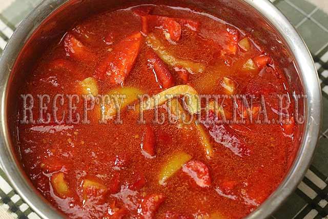 рецепт лечо из болгарского перца на зиму