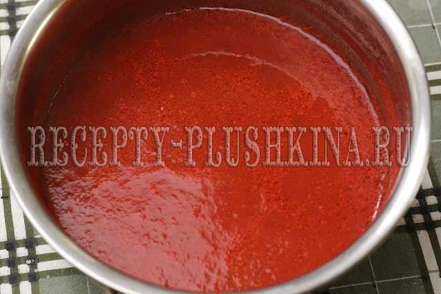 лечо из перца с томатным соусом на зиму