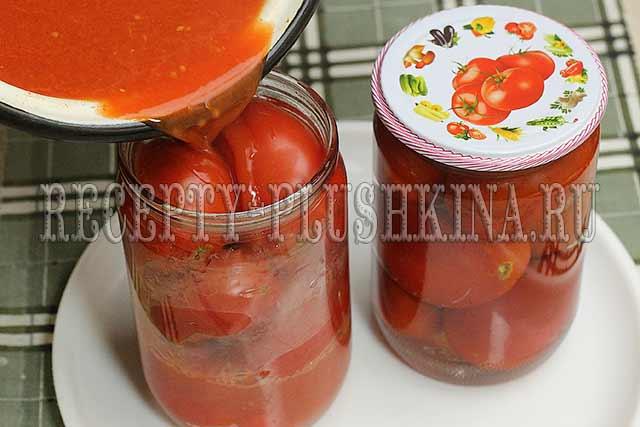 рецепт помидоров в собственном соку без стерилизации