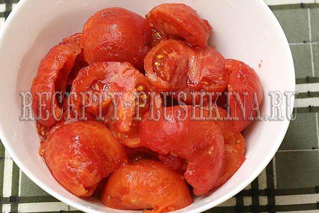 снимаем с томатов кожицу