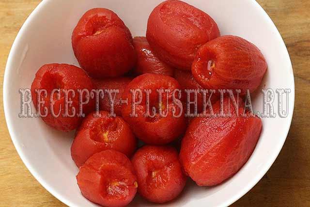 томаты в собственном соку без кожицы