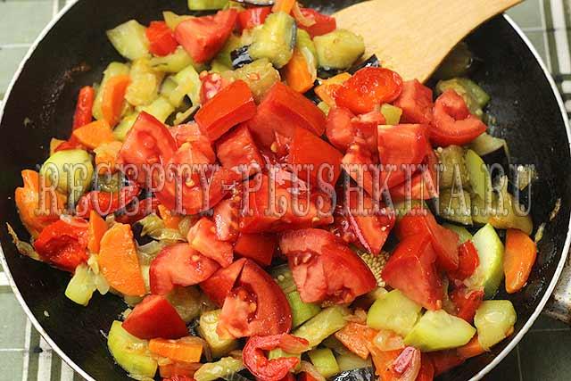 соте из баклажанов и помидоров приготовление