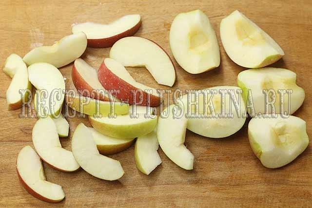 яблоки дольками для варенья