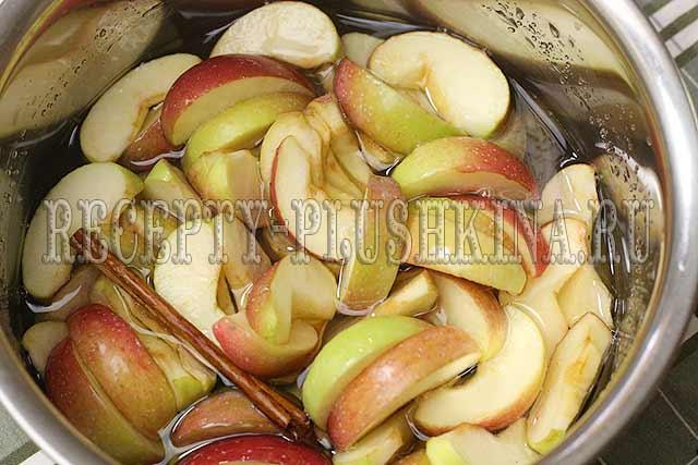 как приготовить варенье из яблок дольками