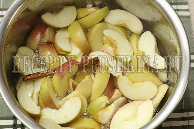 как сварить варенье из яблок дольками