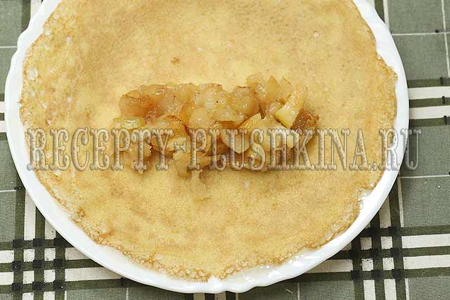 как приготовить блинчики с яблоками