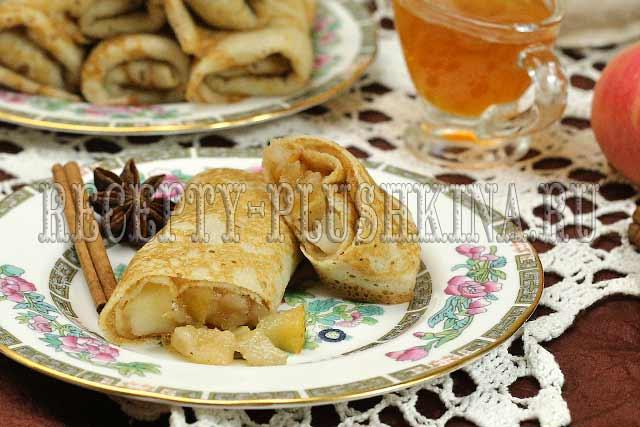 рецепт блинчиков с яблоками