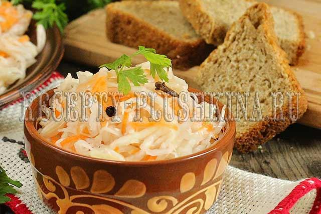 маринованная капуста быстрого приготовления рецепт