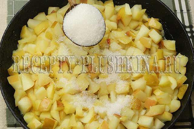 яблочная начинка для жареных пирожков