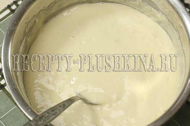 пышное тесто для оладьев на кефире