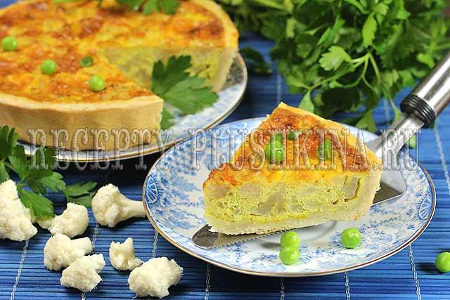 рецепт пирога из цветной капусты