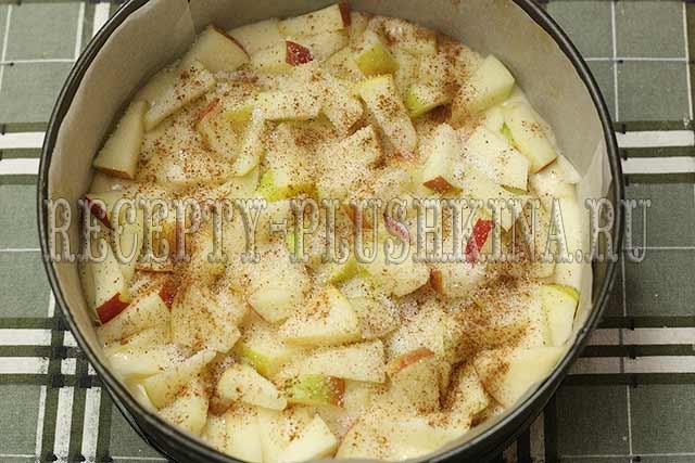 быстрый пирог с яблоками рецепт