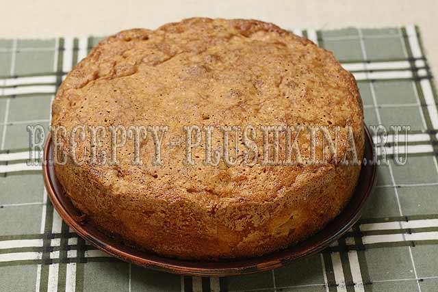 рецепт яблочного пирога на быструю руку