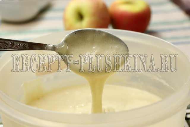 тесто для быстрого пирога с яблоками