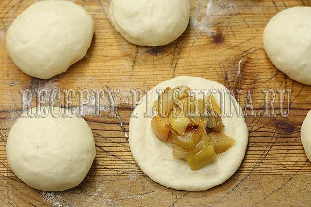 рецепт дрожжевых пирожков с яблоками