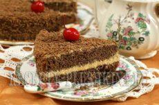 Шоколадный торт с карамельным кремом