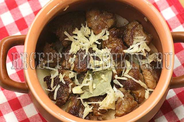рецепт жаркого в горшочках с мясом