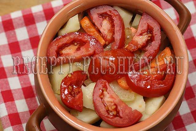 жаркое с мясом и картошкой в горшочках