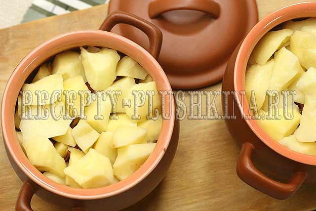 как приготовить картошку в горшочках в духовке