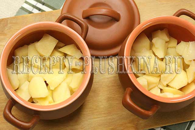 рецепт картофеля в горшочках в духовке