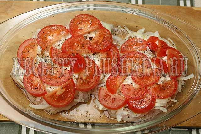 рецепт куриного филе с помидорами и сыром