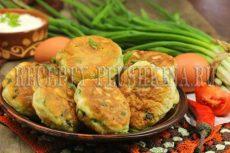 Ленивые пирожки с зеленым луком и яйцом