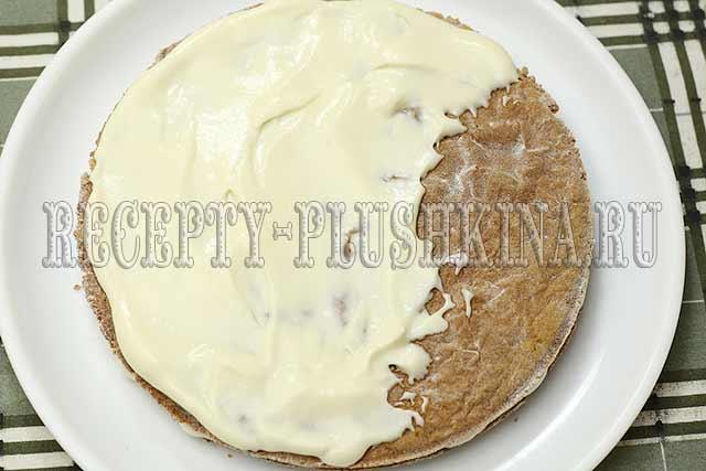 торт рыжик со сметанным кремом рецепт