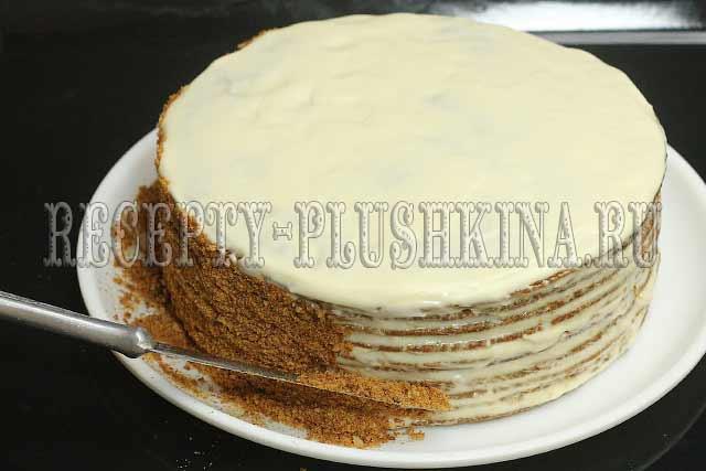 как украсить торт Рыжик