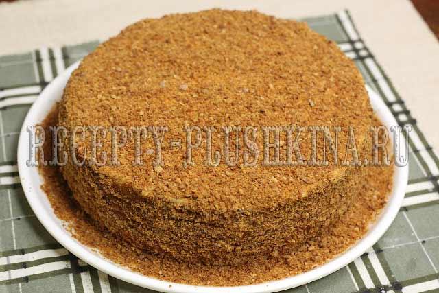 рецепт торта Рыжик со сметанным кремом