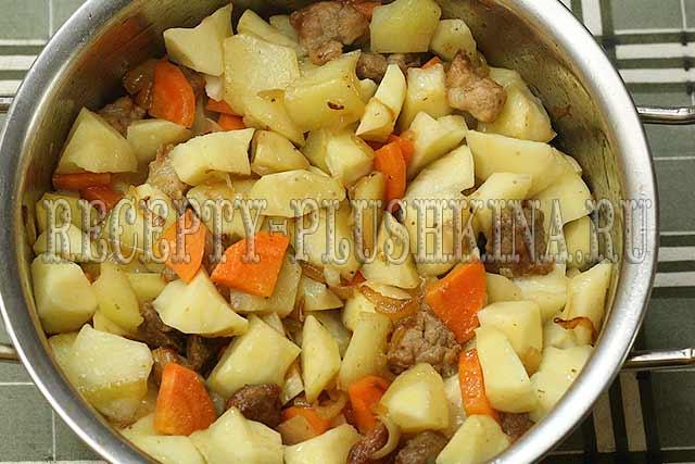 тушеная картошка с мясом пошаговый рецепт