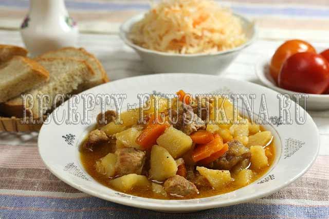 тушеная картошка с мясом рецепт